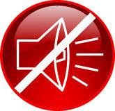 red sound off button Royalty Free Stock Image