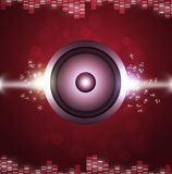 Red Sound Speakerl Music Background Stock Photos