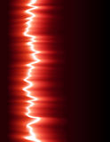 Red sound wave. Vector illustration, AI file included Stock Photography