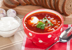 Red soup borsch Stock Photography