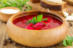 Red soup borsch Royalty Free Stock Image