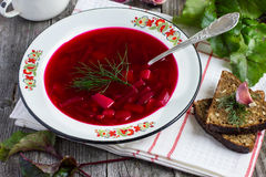 red soup borsch Stock Image