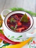 Red soup Stock Photos