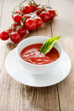 Red soup stock photo