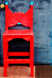 Red Southwestern Chair Royalty Free Stock Photo