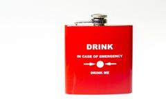 Red souvenir flask Stock Photo