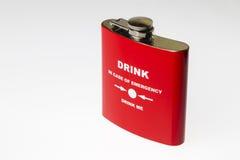 Red souvenir flask Royalty Free Stock Photos