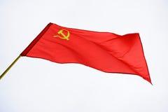 Red Soviet flag Stock Photos