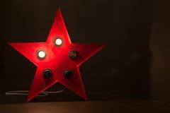 Red Soviet Star Light Background Stock Images