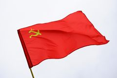 Red Soviet USSR flag Stock Photo