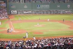 Red Sox与明尼苏达孪生 图库摄影