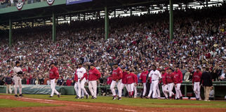 Red Sox Bench Clears, 2003 ALCS Game 3. Royalty Free Stock Photography