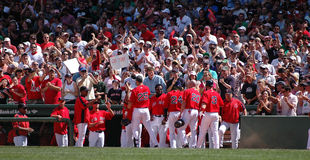 Red Sox Celebrate Stock Images