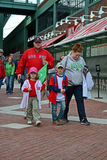 Red Sox fans in Fenway Park in Boston, USA, Royalty Free Stock Photos