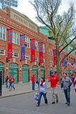 Red Sox fans near Fenway Park on April 20, 2013 in Boston, USA, Stock Photos