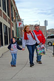 Red Sox fans near Fenway Park in Boston, Royalty Free Stock Photos