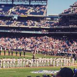 Red Sox invigningsdag 2015 Arkivbilder