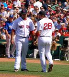 Red Sox Josh Beckett. Red Sox vs. Kansas City Royals Fenway Park 28 July 2011 Stock Photo