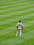 Red Sox Outfielder αριθμός 13 στάση του Carl Crawford outfield Στοκ φωτογραφίες με δικαίωμα ελεύθερης χρήσης
