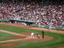 Red Sox Player steps into the batters box Royalty Free Stock Photos