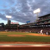 Red Sox przy Fenway parkiem Obraz Stock