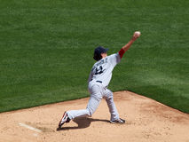 Red Sox starting pitcher Clay Buchholz throws ball in bullpen b stock photography