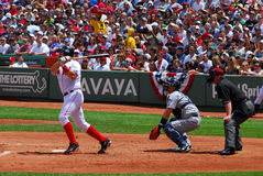Red Sox, Varitek, Home Run Royalty Free Stock Photography