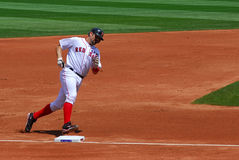 Red Sox, Varitek runs bases after home run Stock Photography