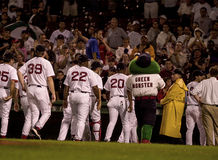 Red Sox Win!! Royalty Free Stock Photo