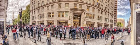 2018 Red Sox world champions parade in Boston royalty free stock photography