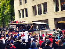 2018 Red Sox world champions parade in Boston stock photos