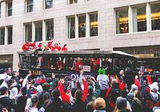 2018 Red Sox world champions parade in Boston stock image