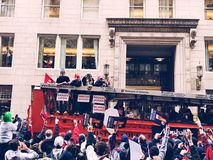 2018 Red Sox world champions parade in Boston stock photo
