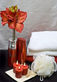 Red spa stock photo