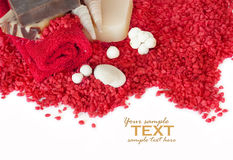 Red spa setting Stock Image