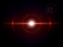 Red space explosion, cosmos burst. Space explosion, cosmos burst. Colored bang on deep dark background Royalty Free Stock Images