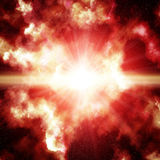 Red space nebula Royalty Free Stock Photo