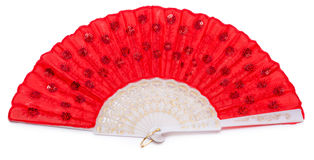 Red spanish fan isolated Stock Images