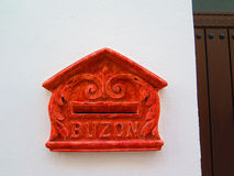 Red Spanish Letterbox Stock Images