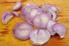 Red spanish onion Royalty Free Stock Image