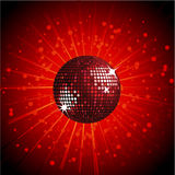 Red sparking disco ball Stock Image