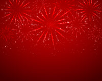 Red sparkle fireworks Royalty Free Stock Photo