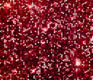 Red sparkle glitter background. Glittering sequins wall. Royalty Free Stock Photos