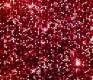 Red sparkle glitter background. Glittering sequins wall. Red sparkle glitter background wall of glittering sequins vector illustration