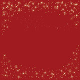Red Sparkle Holiday Border Tile Background Stock Photo