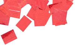 Red sparkle spangles Stock Image