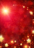 Red sparkling background Stock Photography