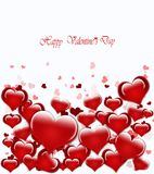 Red sparkling background with Valentines Stock Photo