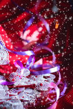 Red sparkling Christmas background Stock Image