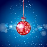 Red Sparkling Christmas Ball Stock Photos
